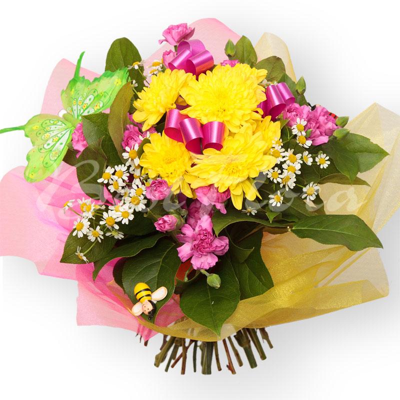 Цветы западном, букет небольшой для ребенка